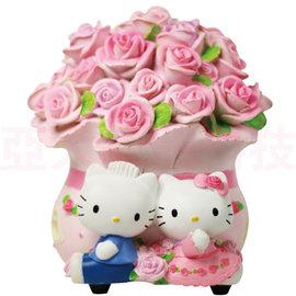 Hello Kitty 幸福甜蜜玫瑰花束薰香燈