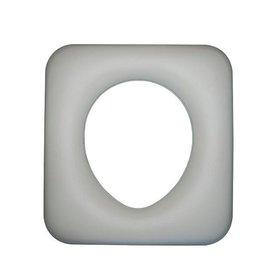 馬桶椅座墊^~軟座墊^(白色^)塑膠板 非木板
