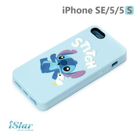 ~ PGA~iJacket~ 迪士尼 iPhone SE 5 5s 3D立體浮雕矽膠系列