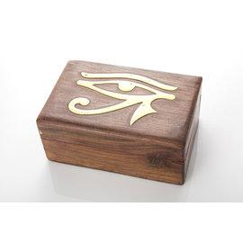 ~聖法蓮華~~美國 神聖荷魯斯之眼魔法木盒 能量盒 靈氣盒 ~
