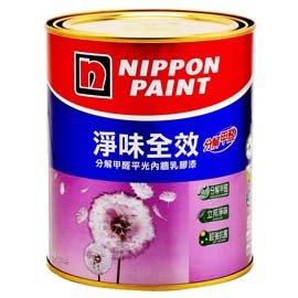 立邦漆~淨味全效平光內牆乳膠漆  1公升裝^(特白色^)