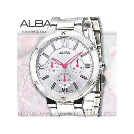 ALBA 雅柏 手錶專賣店 AP6211X1女錶 石英錶 不鏽鋼錶帶 日期 銀白 全新品 保固一年
