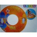 玩樂 美國INTEX 58263 雙手把彩色充氣游泳圈 浮圈 坐圈 有手把 夏天玩水 游泳