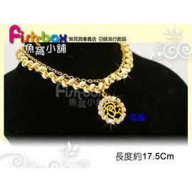 fish~box魚窩小舖◆夏日風 ◆金屬編織線手鏈金色~相機 玫瑰~單條~^#680205
