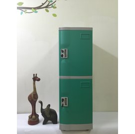 淞平ABS 塑膠型 置物櫃 收納櫃 OA公文櫃 員工置物櫃 ~鑰匙鎖 M 2格
