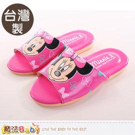 兒童拖鞋 製迪士尼米妮 室內拖鞋 魔法Baby~sh9784
