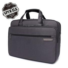 公文包 SPYWALK點子提花 多隔層14吋電腦袋公事包NO:1575
