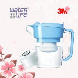 【淨水生活】《3M》【公司貨】即淨長效濾水壺(1壺1濾芯)(WP3000) - 晴空藍