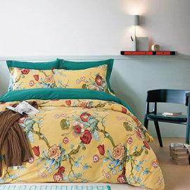 ~PAINT~美式韓系花卉田園,皇室花園,精梳棉,雙人床包,兩用薄被套,四件組 A0111