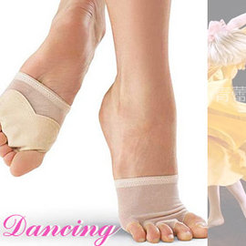 五孔透氣防滑腳掌套E331-A0133(耐磨減壓保護腳套.舞鞋高跟鞋墊腳趾墊腳指墊.芭蕾舞蹈體操前腳掌防磨防護套.前掌墊舒壓磨擦套)