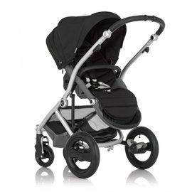 【紫貝殼】『GA10-1』英國 Britax-Affinity 4輪限量版單人手推車 黑+扶手把 【保證原廠公司貨】