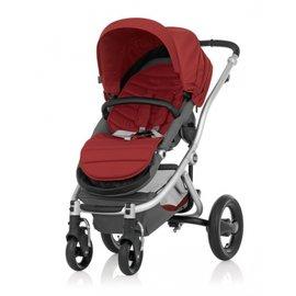 【紫貝殼】『GA10-2』英國 Britax-Affinity 4輪限量版單人手推車 紅+扶手把 【保證原廠公司貨】