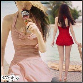 韓版 泳衣 女連身 顯瘦遮肚 泳裝 泡溫泉 加大碼 小胸 大胸 裙式【HH婦幼館】