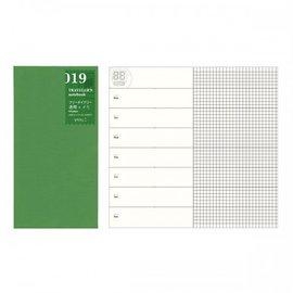 小品雅集  MIDORI TRAVELER S notebook #019 週間 方格手帳