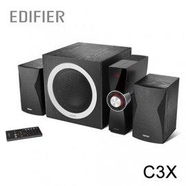 ~雙立體聲全木質音箱~ EDIFIER C3X 2.1聲道 多件式 喇叭
