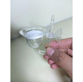 小巧花口高透明玻璃細化器 吸盤 ^~小直管^~ 30mm