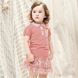 ~捷比 ~MeAnDo米果~JM4680~浪漫網紗拼接滿版彩色圓點層次感短裙~二色