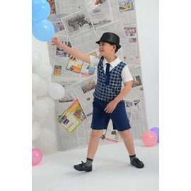 baby king  6108 藍色平織短褲 110CM^~160CM
