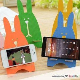 創意木質兔子造型手機座 懶人手機托架 【HH婦幼館】