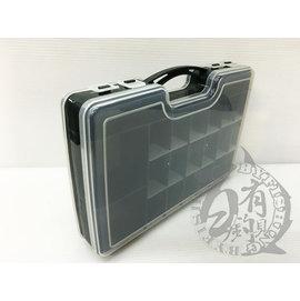 ◎百有釣具◎手提雙面路亞盒/工具盒/零件盒  白色部份隔板可抽取調整 規格:29.4cm*19cm*5.7cm