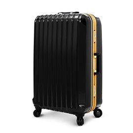 加賀皮件 Deseno Weekender 瑰麗绚燦 黑色金彩 深鋁框PC鏡面行李箱/旅行箱 26吋 2254-26BG