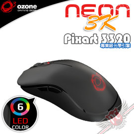 PC PARTY   Ozone NEON 3K 光學電競滑鼠 編程8顆按鍵 128k