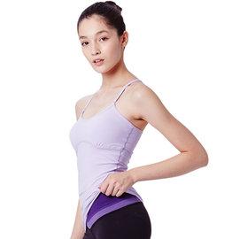 Namaste 瑜珈服 Lillian 舒適細肩帶上衣~粉紫