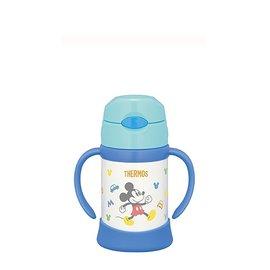 【紫貝殼】『DCA01-1』THERMOS 膳魔師 不鏽鋼保冷保溫瓶 兒童雙耳學習杯 250ML 原廠授權【米奇】【保證公司貨●品質有保證●非水貨】