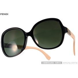 FENDI 太阳眼镜 FS0147KS N6VX1 (黑-米白) 简约唯美百搭热销款 墨镜 # 金橘眼镜