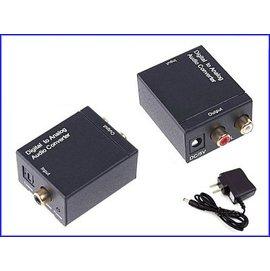 新竹市 電視光纖轉3.5MM立體 數位轉類比 appletv3 2RCA 光纖同軸 音源轉換器/轉換盒