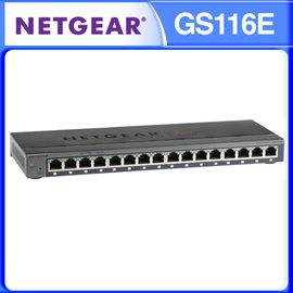 NETGEAR GS116E ~ ProSafe Plus 簡易網管 16埠 10 100