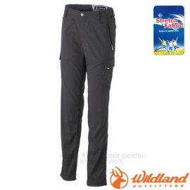 【荒野 WildLand】女新款 彈性合身抗UV貼袋褲.抗UV休閒機能褲.休閒長褲.多口袋工作褲/輕薄透氣.吸濕快乾/0A31315 黑色