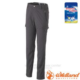 【荒野 WildLand】女新款 彈性合身抗UV貼袋褲.抗UV休閒機能褲.休閒長褲.多口袋工作褲/輕薄透氣.吸濕快乾/0A31315 深灰