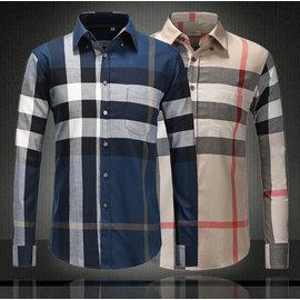 Burberry 巴寶莉   男士 格子襯衫巴London 修身口袋長袖襯衫