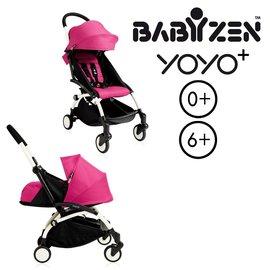 【加購Borny全身包覆墊享$990】法國【BABYZEN】 YOYO-Plus手推車+新生兒套件(粉色)