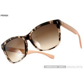 FENDI 太阳眼镜 FS0086FS HJUJD (琥珀-粉) 性感唯美猫眼款 墨镜 # 金橘眼镜