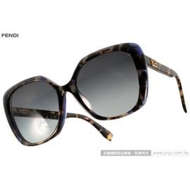 FENDI 太阳眼镜 FS0107FS D53HD (蓝琥珀) 经典LOGO质感大框款 墨镜 # 金橘眼镜