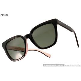 FENDI 太阳眼镜 FS0121FS MG1X1 (黑-粉红) 简约唯美百搭热销款 墨镜 # 金橘眼镜