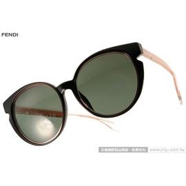 FENDI 太阳眼镜 FS0142FS N7AX1 (黑-透粉) 简约唯美百搭猫眼款 墨镜 # 金橘眼镜