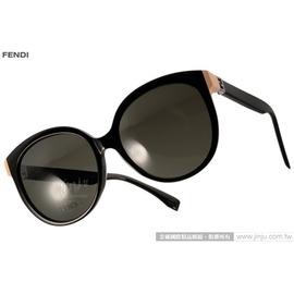 FENDI 太阳眼镜 FS0144FS 29ANR (黑) 简约唯美百搭猫眼款 墨镜 # 金橘眼镜