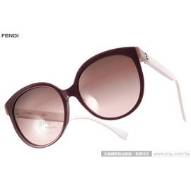 FENDI 太阳眼镜 FS0144FS MFZJ6 (深红-白) 简约唯美百搭猫眼款 墨镜 # 金橘眼镜