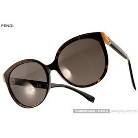 FENDI 太阳眼镜 FS0144FS TRD8H (琥珀-黑) 简约唯美百搭猫眼款 墨镜 # 金橘眼镜