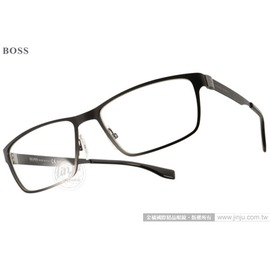 HUGO BOSS 光學眼鏡 HB0673S UAJ99 ^(黑^) 名品 雅致休閒款 平