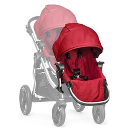 【紫貝殼●現貨】『GB08-1』【限量●銀框紅】2016年新款 Baby Jogger City Select 推車座椅(Second Seat)雙人第二座椅【公司貨】