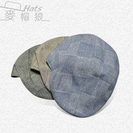 ~麥帽狼~隱形的格子 小偷帽 鴨舌帽 穿搭  B_1046