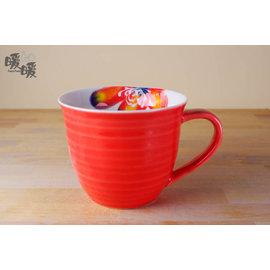 暖暖瓷器 彩花馬克杯~~微波  陶瓷杯子  安心安全  入厝  送禮  餐具