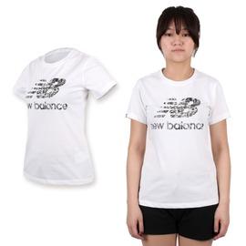 NEW BALANCE 女印花短袖T恤(棉T 路跑 慢跑 休閒 NB 圓領【03312272】≡排汗專家≡