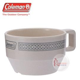 探險家戶外用品㊣CM-26776 美國Coleman 晶格馬克杯/白 竹纖維馬克杯 環保餐具 露營 野營 野炊 杯子 茶杯