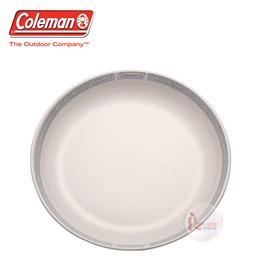 探險家戶外用品㊣CM-26777 美國Coleman 晶格圓盤/白 竹纖維圓盤 環保餐具 露營 野營 野炊 盤子 餐盤