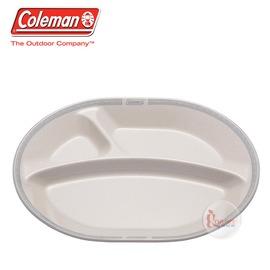 探險家戶外用品㊣CM-26779 美國Coleman 晶格午餐盤/白 竹纖維餐盤 環保餐具 露營 野營 野炊 盤子 餐盤